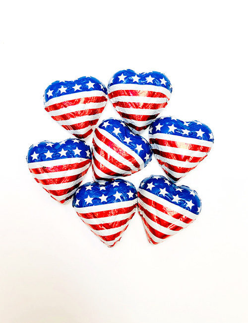 Milk Chocolate Foiled American Hearts