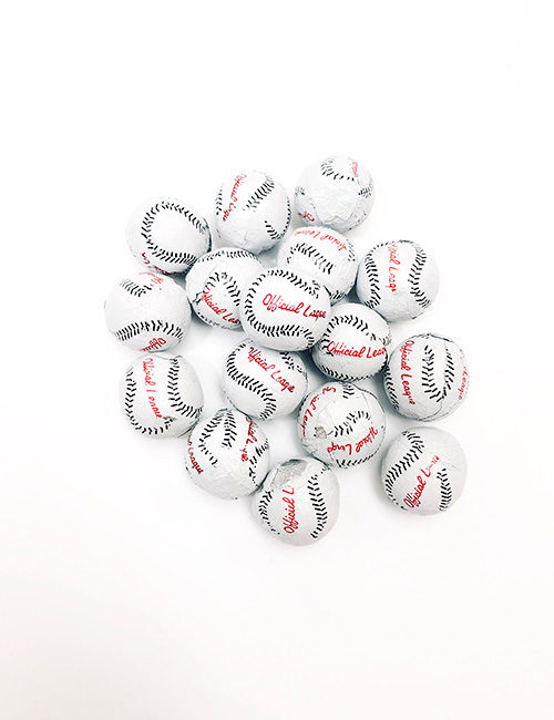Milk Chocolate Foiled Baseballs