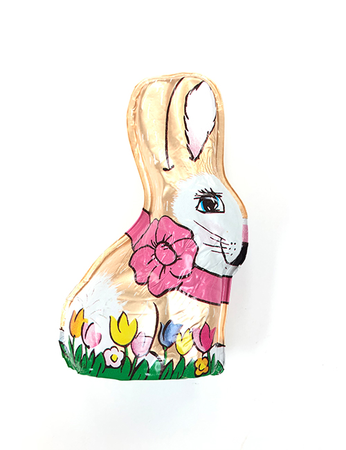 Milk chocolate hollow foiled 2oz bunny