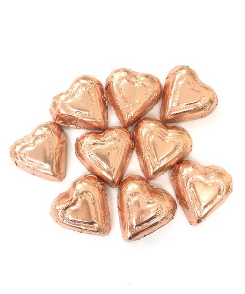 Valentine's Day Dark Chocolate Foiled Hearts