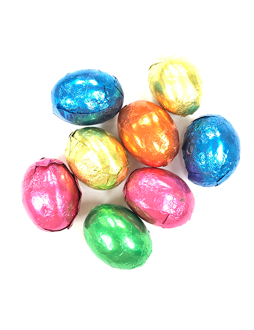 Dark chocolate foiled eggs