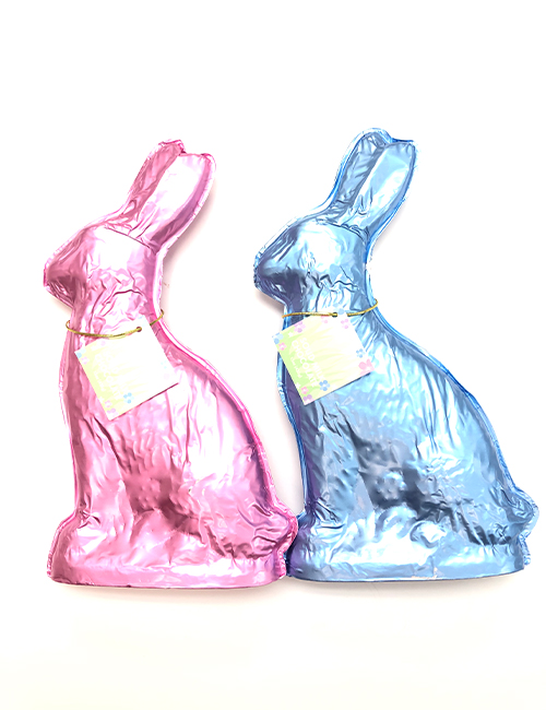 Milk chocolate 15 oz foiled bunnies